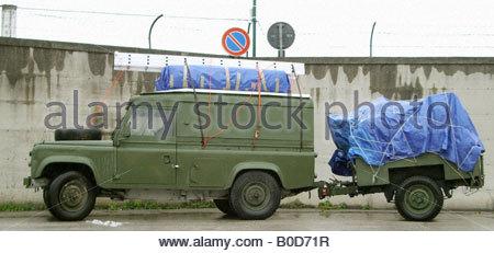 Land Rover Landrover Defender Serie 4 x 4 off Road Offroad Abenteuer Reisen - Stockfoto