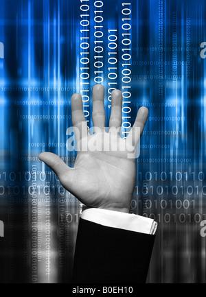 Daten-hand - Stockfoto