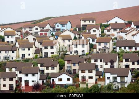 Gehäuse in Küsten Stadt Teignmouth Devon UK - Stockfoto