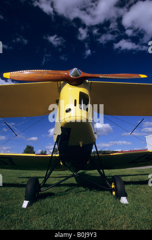 Alte britische Trainer Doppeldecker De Havilland DH - 82c Tiger Moth - Stockfoto