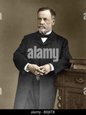 Französische Wissenschaftler Louis Pasteur 1822 1895 nach dem Pasteurisierung benannt ist eingefärbte Version der - Stockfoto