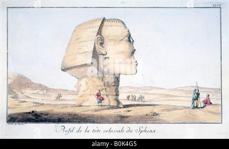 """Große Sphinx Kopf im Profil"", aus dem 18. Jahrhundert. Künstler: Tuscher Hafniae - Stockfoto"