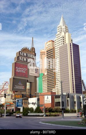 Blick auf New York New York Hotel Casino in Las Vegas Nevada, USA - Stockfoto