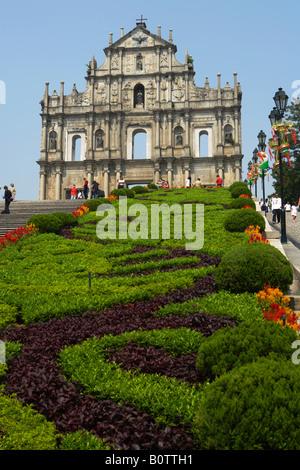 Ruinen der Kirche von St. Paul Macau Halbinsel - Stockfoto