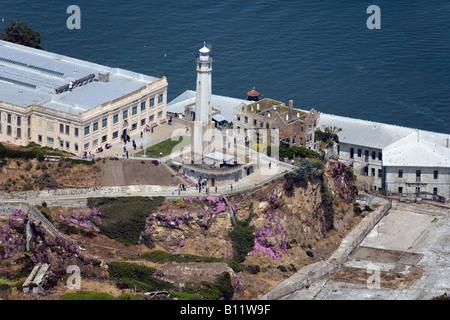 Luftaufnahme über Alcatraz Insel San Francisco - Stockfoto