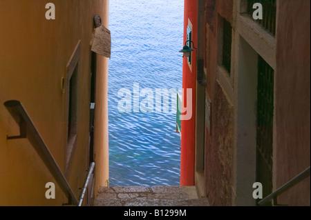 Häuser von Adria Rovinj Istrien Kroatien - Stockfoto
