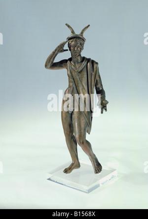 Bildende Kunst, Antike, römische Reich, Skulptur, Quecksilber, bronze, frühen dritten Jahrhundert AD, Weißenburg - Stockfoto
