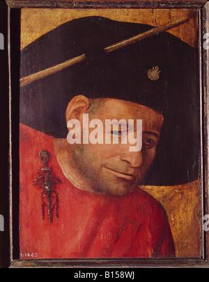 "Bildende Kunst, Bosch, Hieronymus (um 1450-1516), Gemälde ""El Ballistero' (Die Crossbowman), Museo del Prado, Madrid,, - Stockfoto"