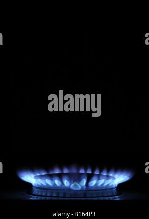 Eine britische Herd brennen GASKOCHER, UK Rechnungen Rechnung Kosten Heizung - Stockfoto