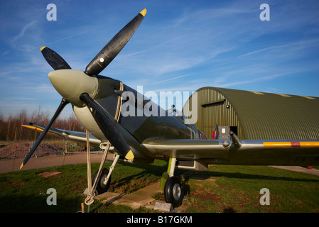 Spitfire East Midlands Airport Aeropark Derbyshire England - Stockfoto
