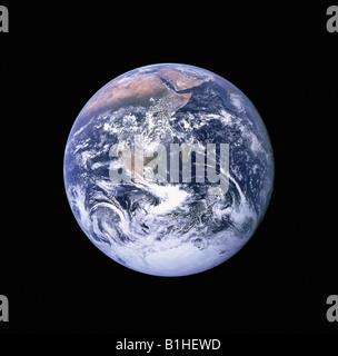 Blick auf die Erde aus dem Weltraum - Stockfoto