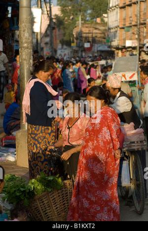 Marktplatz in Kathmandu, Napal - Stockfoto