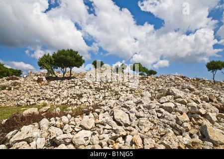 Torre d ' en Galmes talayotische Siedlung Menorca - Stockfoto