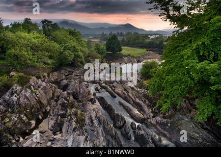 Ring of Kerry, Sneem River. Irland. - Stockfoto