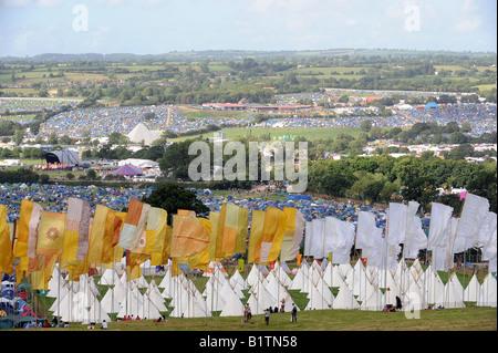Glastonbury Festival-Gelände - Stockfoto