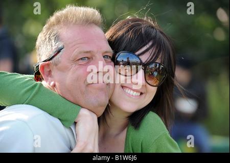 Glastonbury Festival-Spaß in der Sonne - Stockfoto
