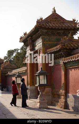 Touristen in der Hofburg verbotenen Stadt Peking China - Stockfoto