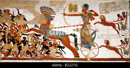 Gipsabdruck von Gräbern Tempel von Beit el Wali Nubien Militärexpedition 2 Replik von Joseph Bonomi 1824 1834 - Stockfoto