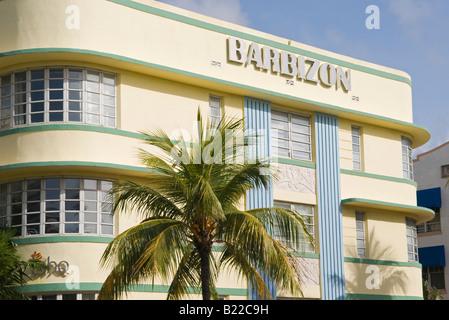Barbizon Hotel am Ocean Drive in South Beach Miami This Art-deco-Hotel wurde im Jahr 1937 von Henry Hohauser entworfen. - Stockfoto