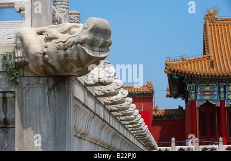 Architektur in der verbotenen Stadt Peking China