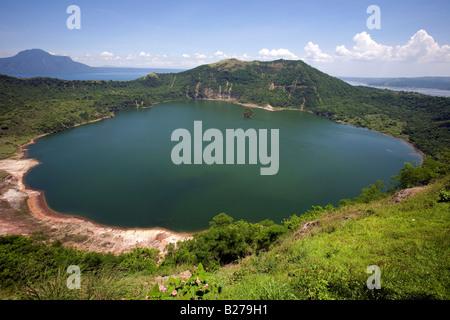 Ein Blick auf den Kratersee Taal Vulkan befindet sich in Taal See in der Nähe von Tagaytay City in der Provinz Cavite, - Stockfoto