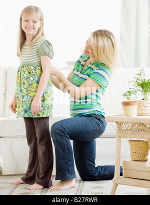 Mutter Einstellschraube Tochter shirt - Stockfoto