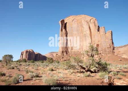 Ansicht der Spearhead Mesa im Monument Valley in Utah, USA - Stockfoto