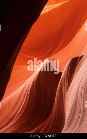 Canyon Wanddetail, Lower Antelope Canyon, Arizona - Stockfoto