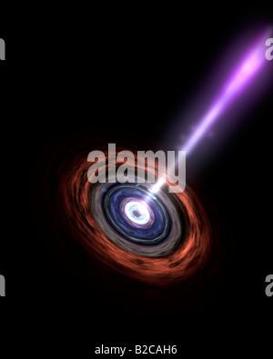 Gamma-Strahlen in galaktische Kerne - Stockfoto