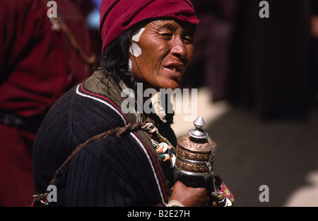 Ladakhi Pilger, Leh, Ladakh, Indien. - Stockfoto
