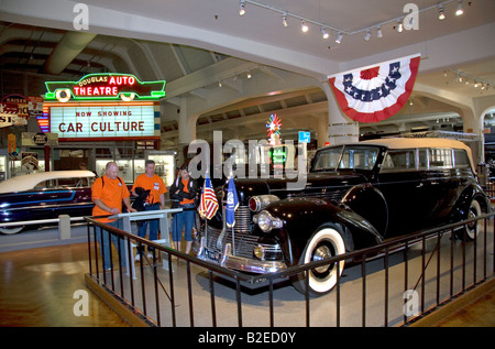 Franklin D Roosevelt Sunshine Special 1939 Lincoln presidential Limousine in das Henry Ford Museum in Dearborn, - Stockfoto