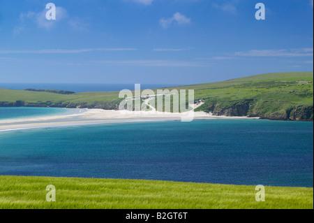 St. Ninian Isle und Tombolo, Mainland, Shetland-Inseln, Schottland, UK. - Stockfoto