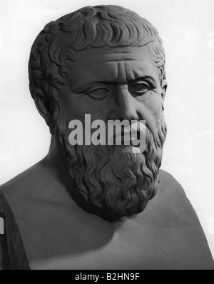 Platon, 427 - 347 v. Chr., griechische Philosoph, Porträt, Büste, - Stockfoto