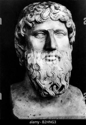 Platon, 427 v. Chr. - 347 v. Chr., griechische Philosoph, Porträt, Büste, 4. Jahrhundert v. Chr., Nationalmuseum - Stockfoto