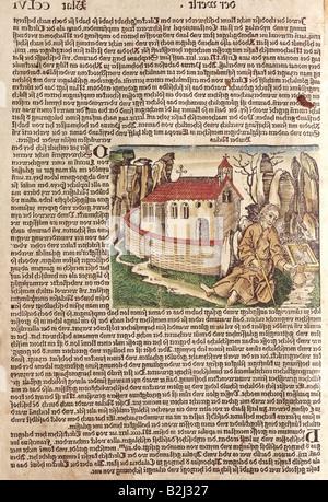 Nikolaus von Flue, 1417 - 21.3.1487, Schweizer Einsiedler, asketischen, mystische, Heilige, vor der Kapelle sitzen, - Stockfoto