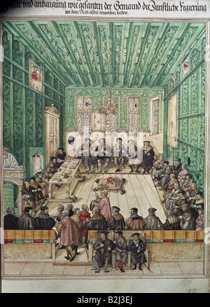 Geographie/Reisen, Deutschland, Augsburg, Events, Aufstand der Handwerker, 1638, Additional-Rights-Spiel-NA - Stockfoto