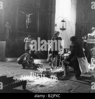 Geographie/Reisen, Guatemala, Religion, beten die Menschen in die Kirche Santo Tomas, Chichicastenango, 1960er Jahre, - Stockfoto