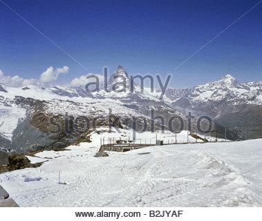 Geographie/Reisen, Schweiz, Wallis, Landschaften, Berge, Matterhorn, Blick vom Gornergrat, Additional-Rights - Clearance - Stockfoto