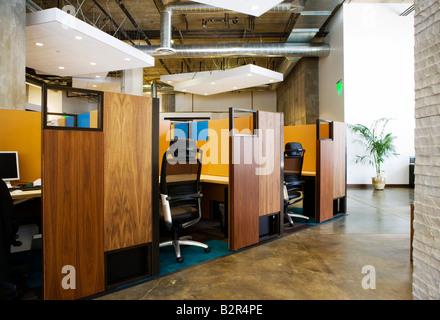 Innenraum der modernen Bürozellen - Stockfoto