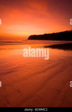 Sonnenuntergang am Agonda Beach, Süd-Goa, Indien, Asien - Stockfoto