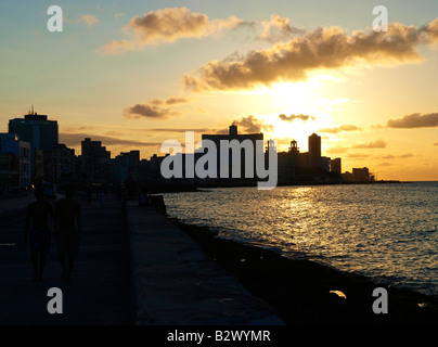 Havanna Vieja, Altstadt, Malecon - Stockfoto
