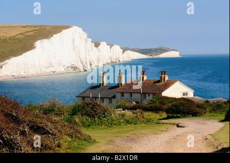 Bzw von der Küste in der Nähe von den sieben Schwestern in East Sussex - Stockfoto