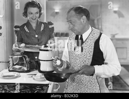 Frühstück vorbereiten - Stockfoto