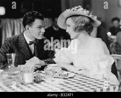 Junges Paar im restaurant - Stockfoto