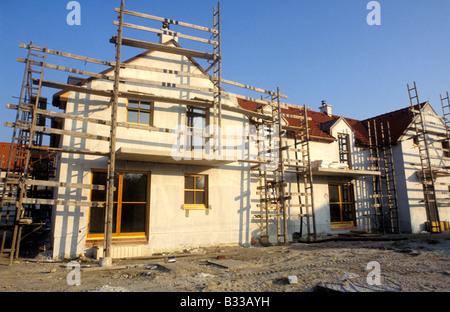 Baustelle der Häuser - Stockfoto