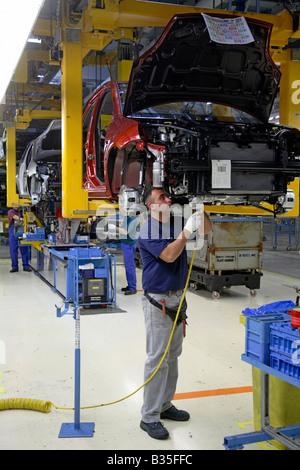 Herstellung von Ford Fiesta und Fusion Cars, Köln, Deutschland - Stockfoto