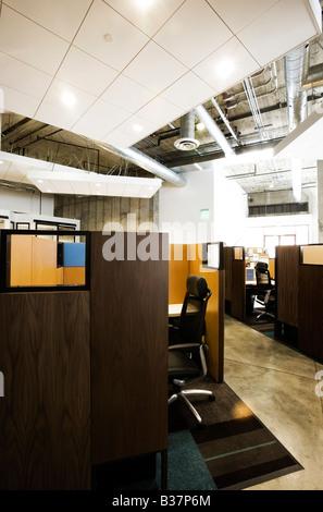 Detail der moderne Büroflächen mit Kabinen - Stockfoto