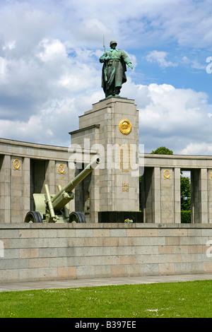 Deutschland, Berlin, Deutschland-Ehre Sowjetisches Ehrenmal mark für die Rote Armee in Berlin - Stockfoto