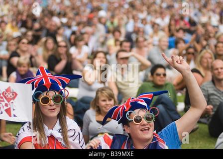 Kostenloses Konzert Party Green Park anlässlich der Übernahme als Gastgeberland für die 2012 London Olympics Games - Stockfoto