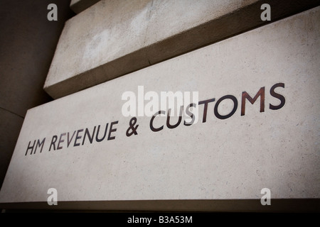 HM Revenue Zollgebäude am Whitehall London UK - Stockfoto